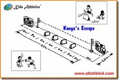 atletik kit, gawang lari anak, Kanga's Escape, kid atletik, kids athletics, peralatan atletik kid, peralatan olahraga anak, perlombaan lari anak, sport kid, Sprint / Hurdles Shuttle Relay